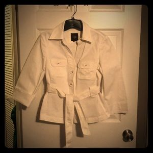 Jackets & Blazers - 🌺3 for $20 -Super cute white belted jacket